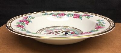 """Aynsley Indian Tree Gold Edge Smooth 7 7/8"""" Rim Soup Bowl"""
