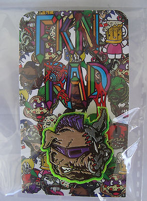 Speldjes FKN RAD Limited Edition Lapel Pin Back Acrylic TMNT Rocksteady Bebop Overig