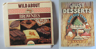 Lot (2) cookbooks Wild About Brownies AND Just Desserts recipes SIGNED ALBRIGHT