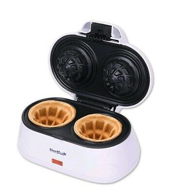 Double Belgian Waffle Bowl Maker Electric Iron Press Kitchen Top Non Stick NEW..
