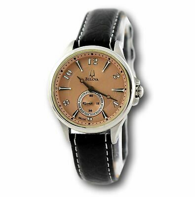 Bulova 96L135 Women's Adventurer Stainless Black Leather Quartz Watch