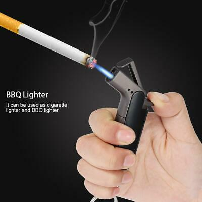 Windproof Refillable Butane Gas Trip Torch Cigarette BBQ Elbow Lighter With Hook