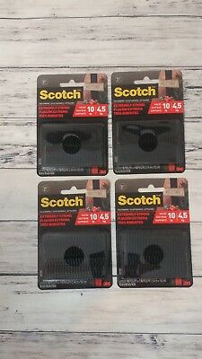 "3M Scotch Extreme Fasteners Holds 10 lbs Indoor Outdoor 1"" x 3"" Black 4 Packs"
