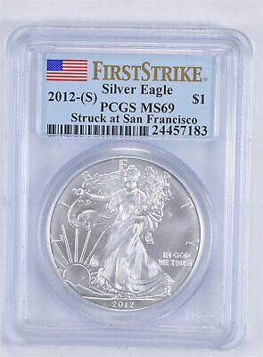 MS69 First Strike 2012-(S) American Silver Eagle - Graded PCGS *008