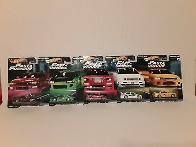 2019 Hot Wheels Premium Fast And Furious New 5 Car Set