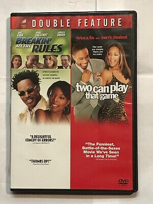 Breakin All the Rules/Two Can Play That Game (DVD, 2009, 2-Disc Set, FS, WS)