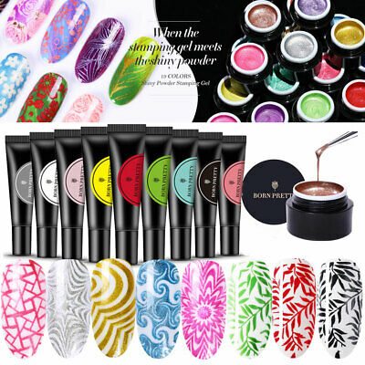 33 Colors Stamping Gel Gel UV pour vernis à ongles manucure BORN PRETTY 5/8ML