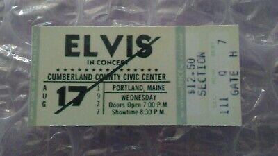Elvis Presley 1st Concert Ticket Stub That Never Happened August 17th 1977 PM
