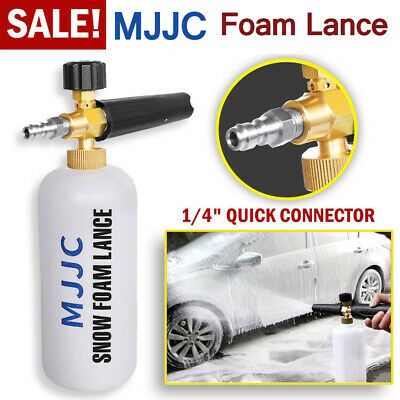 MJJC Pressure Washer Snow Foam Lance 1/4'' Spray Jet Car Wash Cannon Gun 1L