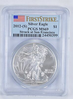 MS69 First Strike 2012-(S) American Silver Eagle - Graded PCGS *003