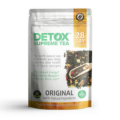 28 Day Supreme Detox Tea Bags Caffeine Free helps with weight loss burns fat