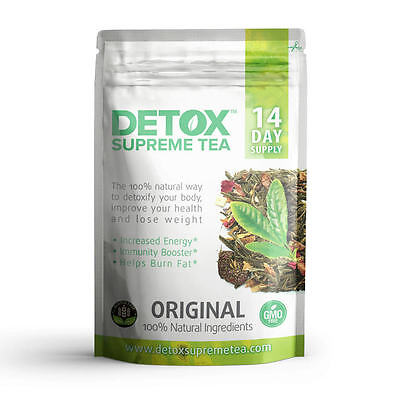 Detox Tea Loose Leaf 14 Day with Caffeine helps with weight loss burns fat