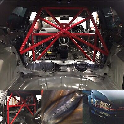 VW Golf MK7 2017 saftey device Track day MSA Half Cage Bolt In Roll cage Twin X