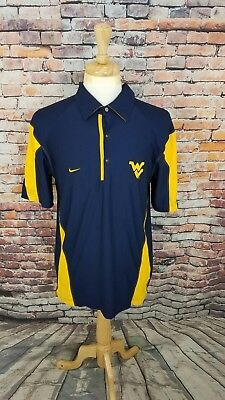 b8a8f27c Nike Dri Fit Men's S/S Navy WEST VIRGINIA MOUNTAINEERS Athletic Polo Shirt  ...
