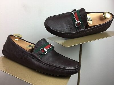 e6cd72ce621 MEN S GUCCI  KANYE  Brown Leather Bit Loafers Size 7 1 2G   8 1 2 US ...