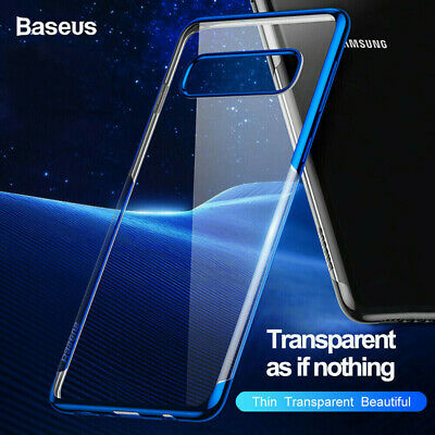 Baseus For Samsung Galaxy S10 S10+ Luxury Ultra Slim Plating TPU Back Case Cover