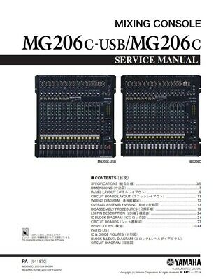 YAMAHA 01V96 DIGITAL Mixing Console Service Manual and Repair Guide on