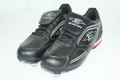 4428d5a319b9 EASTON MOLDED BASEBALL Cleat, Low, Black/Charcoal/White, Size 13 ...