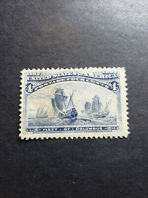 US Stamps Collection Scott#233 4c Columbian Mint H OG