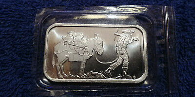 1 Oz. SilverTowne Retro Prospector .999 Fine Silver Bar (New) Still Mint Sealed