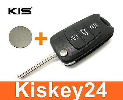 3t Spare Flip Key + Battery for Hyundai I30 Ix20 Ix35 Kia Soul Sports Day