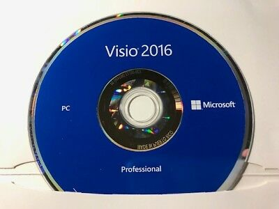 Microsoft Visio Pro 2016 MS USB Brand New Product Key Professional CD