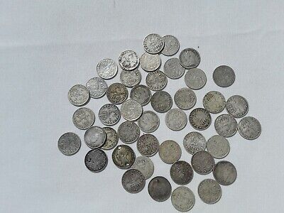 Bulk Lot Of Maundy 3D Stg Sil Coins X 45.dates From 1856 To 1920 Nice Lot