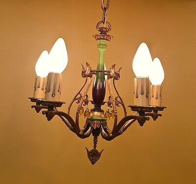 Vintage Lighting 1920s chandelier exquisite and rewired