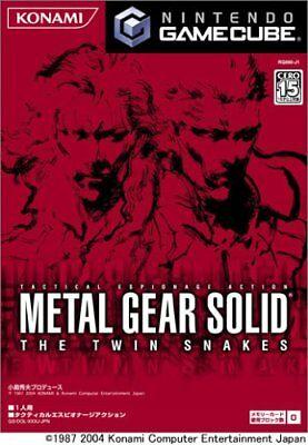 Usé Gamecube Metal Gear Solid The Twin Serpents Japon