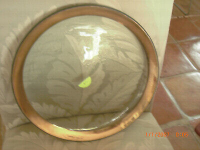 """Signed AnnieGlass Roman Antique Gold 12"""" Service Plate Charger 1985 #6"""