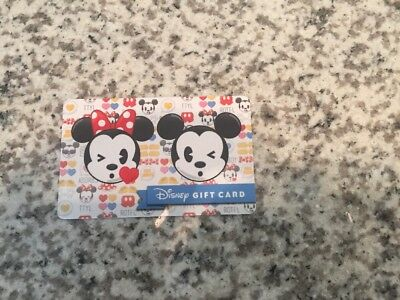 Disney Gift Card - Emoji Minnie And Mickey Mouse - No Value