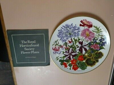 Franklin Porcelain .Flowers of the Year Plate collection.The Flowers of AUGUST.
