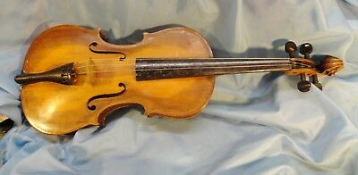 Treasure  Violin   Antique  Unknown  Maker  European  Early  1920'S  W/ Old  Bow