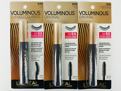 474aa2473ec L'Oreal Paris Voluminous Original Curved Mascara 305 340 Black 0.28oz You  Choose