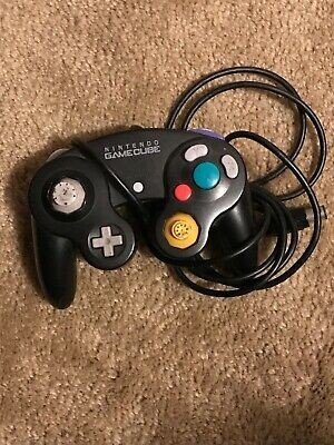Official Gamecube Controller Black Original Nintendo OEM Genuine Wii