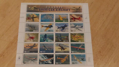 US Postage Stamps 1 Sheet Scott #3142 Classic American Aircraft  20 of 32c MNH!