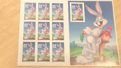 US Postage Stamps 1 Sheet Scott#3137 Bugs Bunny -- 10 of 32 Cent stamps MNH