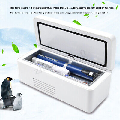 AU Portable Electric Insulin Medicine Refrigerated Box Fridge Cooler Car Home