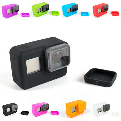 Silicone Case Protective Cover W/ Lens Cap For GoPro Hero 7 6 5 Camera Accessory
