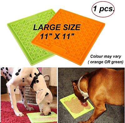 LARGE Dog Cat Treat Mat Pet Puppy Calm Boredom Game Play Toy For Lick Gravy Food