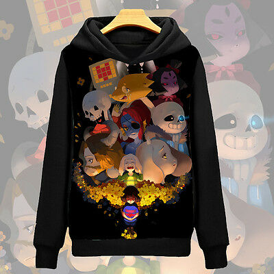 Undertale Game Sans And Papyrus Pullover Sweater Hoodie Jacket Coat Unisex #V07