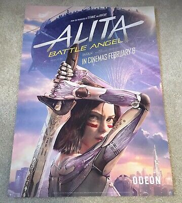"""Alita Battle Angel Film Glossy Poster 12""""x16"""" Official Odeon Cinema UK Exclusive"""