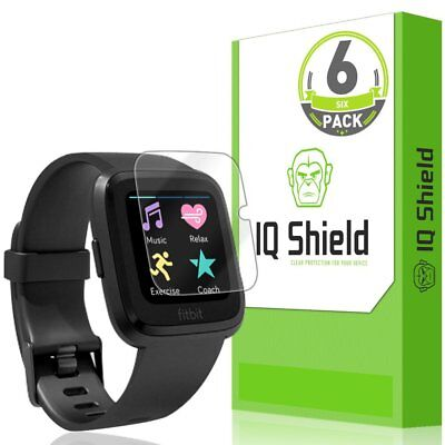 IQShield Fitbit Versa Screen Protector (6-Pack), LiQuidSkin Screen Protector for