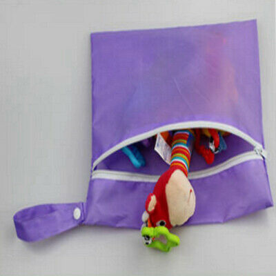 Mom Storage Cart Baby Waterproof Nappy Protable Bags Pouch Stroller Dirty purple