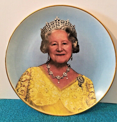 Queen Mother 90th Birthday Commemorative China Plate, Vintage 1990, With Box