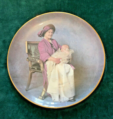 Queen Mother and Prince Harry China Plate, Crown Windsor 28cm, Vintage