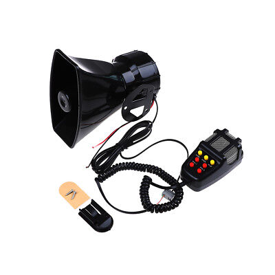 12V loud air horn siren for car boat van truck 7 sounds PA system + mic 115db ZP