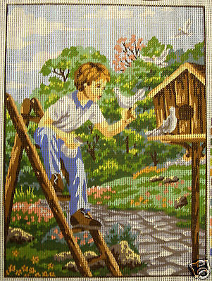 Boy with Doves – new tapestry canvas