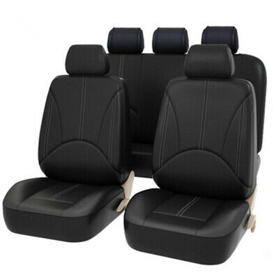 9pcs Luxury PU Leather Auto Seat Cover Universal Car Front Seat Back