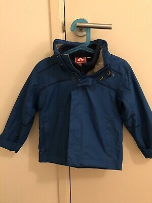 Baby Kids Rain Jacket With Removable Fleece Size 1-2 18-24 Months